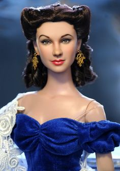 Scarlett O'Hara in blue dress doll
