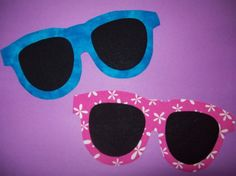 Fabric Applique TEMPLATE ONLY Sunglasses by etsykim on Etsy