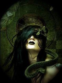 gothic art   Tumblr #goth #snake #dark                                                                                                                                                                                 More