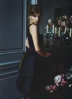 Clemence Poesy in Armani Privé for InStyle US (December 2007).