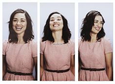 Crystal Reed- med. or shorter, can't decide.