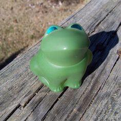 Vintage Avon Perfume Bottle--Green Glass Frog--Emerald Prince--Figural Bottle--Perfume Fragance Decanter--Seventies Kitsch--Mt Vintage Home