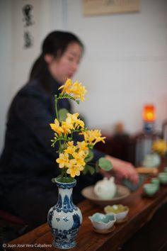 ceremonia del té en la Tetereria, tea ceremony at Tetereria tea house.