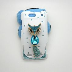 Handmade hard case for Motorola Droid 4 Bling fox by CheersCases,