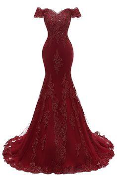394d309d41441b online shopping for Himoda Women s V Neckline Beaded Evening Gowns Mermaid  Lace Prom Dresses Long from top store. See new offer for Himoda Women s V  ...