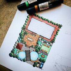 """""""Vacation House's Landscape Design by my very talented, amazing friend, Kate B… - Architecture Landscape Architecture Drawing, Landscape Sketch, Landscape Design Plans, House Landscape, Garden Architecture, Landscape Drawings, Architecture Plan, Cool Landscapes, Landscape Pictures"""