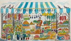 """Fine Fruits & Vegetables"" by Emily Sutton (watercolour)"