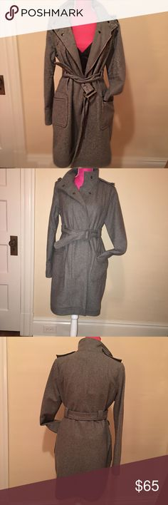 BB Dakota Wool Coat Military style BB Dakota coat in gray wool. Perfect for the coming winter season. Worn only a few times, so it's almost brand new! BB Dakota Jackets & Coats