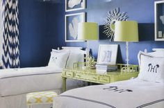 Alessandra Branca design, Alan Campbell Ferns curtains and pillows by Donna Benedetto