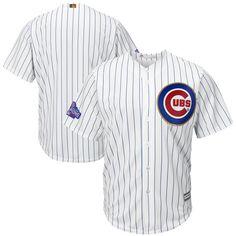 0626488422f Majestic Kids  Javier Baez Chicago Cubs Player Replica Cb Jersey - White  RoyalBlue S