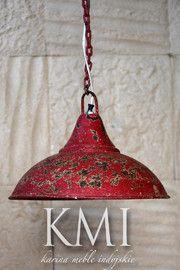 "industrialna lampa  ""Loft Colors"" M-2574 czerwona"