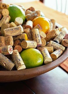 Corks  Fruit Centerpiece: Perfect for a Wine  Cheese party!