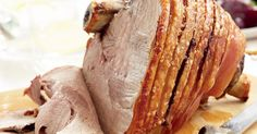 Curtis Stone's pork leg with crackling and delicious apple compote is sure to be an Easter feast favourite.