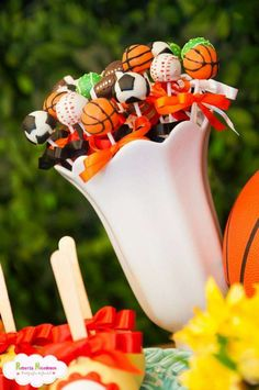 Sports Anniversary (Wedding) Party Ideas | Photo 1 of 13 | Catch My Party