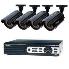 Q-SEE HeritageHD Series Wired Video Surveillance System with Cameras and 100 ft. Night - The Home Depot Wireless Home Security Systems, Security Alarm, Security Camera, Alarm Monitoring, Best Home Security, Bullet Camera, Home Defense, Surveillance System, Alarm System