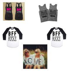 Designer Clothes, Shoes & Bags for Women Brunette To Blonde, Bffs, Reusable Tote Bags, Polyvore, Design, Women, Women's, Design Comics