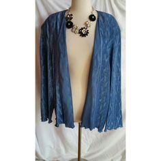 PATRA Woman Size 24 Blue Blazer Jacket NWOT #Patra #Blazer