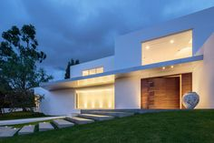 The custom built door on this home in Quito, Ecuador is a perfect example of an over-sized door that went above and beyond, and needed modern technology to accommodate it. With a design similar to that of a traditional box joint, this custom designed pivoting door makes a dramatic statement as it welcomes people into the home that was designed by Diego Guayasamin Arquitectos.