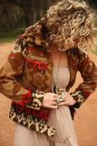JuNK GyPSY HICKORY HILL blanket jacket. . . cropped style in a brown and red blanket print on soft, comfy...