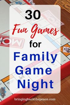 Are you looking for some fun family games for your family game night? Check out this list of 30 fun games for family game night. These are great family games that will make your family time fun and memorable.