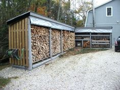 Easy and Creative DIY Firewood Rack and Storage Ideas tag: outdoor firewood rack ideas firewood storage rack ideas indoor firewood rack ideas firewood rack cover diy ideas for firewood rack. Wood Shed Plans, Diy Shed Plans, Storage Shed Plans, Storage Ideas, Coop Plans, Storage Solutions, Indoor Firewood Rack, Firewood Shed, Wood Storage Sheds