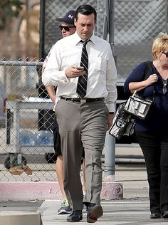 Jon Hamm Defies Mad Men Costumers, Appears To Go Without Underwear - Us Weekly Jon Hamm, Mad Men, Hunks Men, Hairy Hunks, Hot Cops, Hottest Male Celebrities, Celebs, Famous Men, Older Men