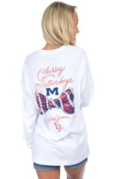 Ole Miss Classy Saturday Tee - Long Sleeve