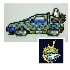 DeLorean - Back to the Future perler beads by Charles M.