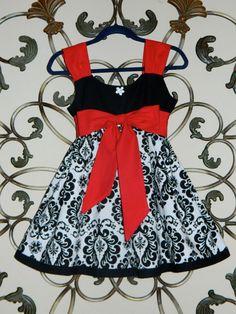 Black Damask Christmas Classic Elegance Dress by Cordealinge, $48.00