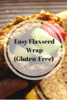Easy Flaxseed Wrap (Gluten-Free) | Easy Flaxseed Wrap (Gluten-Free) | This super-easy wrap from Wheat Belly is the perfect stand-in for a tortilla, pita, or bread. Click through to learn more!