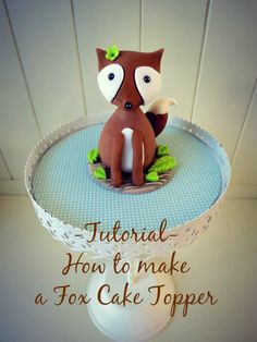 Tutorial: How to make a Fox Cake Topper | CakeJournal.com