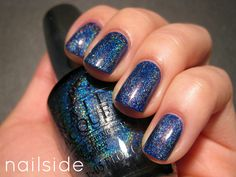 """""""Nailside: OPI DS - Glamour"""" OPI DS Glamour, on top of two coats of Orly Royal Navy"""