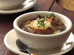 Slow Cooker Beefy French Onion Soup  Fantastic French onion soup is made even heartier with beef stew meat. Start the soup in the morning and come home to a no-fuss dinner.