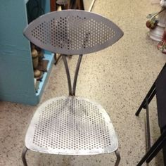 Art Deco Metal Chair Great for Desk or An Accent Piece | eBay