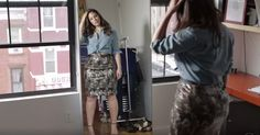 """Pin for Later: Ashley Graham Shows You Exactly How to Pull Off the Things You Should """"Never Wear"""" Pencil Skirt Ashley's Tip: Tie a button-down at the waist and pair with a sexy, skintight pencil skirt."""