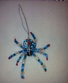 Beaded spider that I created tonight.  This ornament is in keeping with the Legend of the Christmas Spider.