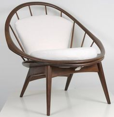 Selig Round Spindle Back Chair, apartmenttherapy #Chair #Danish_Modern #Selig #apartmenttherapy