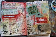 colorful journaling...  michelle allen
