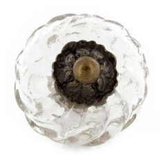 Clear Glass Swirl Knob