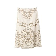 VALENTINO ❤ liked on Polyvore featuring skirts, valentino, bottoms, dresses, white knee length skirt, white skirt and valentino skirt