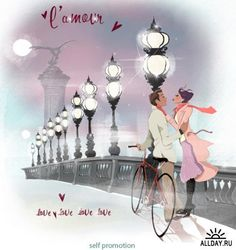 """""""L'Amour"""" by Illustrator Lucy Truman."""