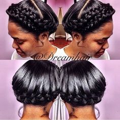 Great Protective Crown Braids - http://community.blackhairinformation.com/hairstyle-gallery/braids-twists/great-protective-crown-braids/