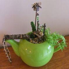 Miniature Teapot Garden