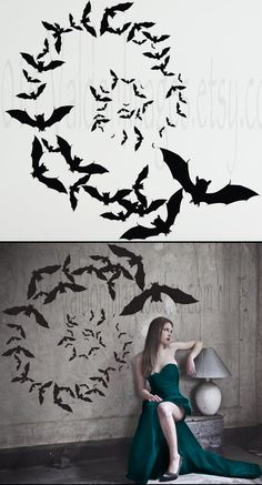 Vampire Bats Wall Decal Y Party Decor Gothic Bat Stickers