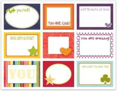 Actual link for this- I will use for Bucket Filling...Lunchkit notes write click scrapbook