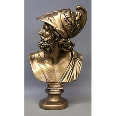 Ajax the great played an important part of homers Iliad as a great warrior. This mythological figure this presented here in bust form. Made from durable fiberglass and suited for indoor or outdoor use. With several finish options to choose from.