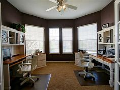 His Her Office Plenty Of Natural Light Good Working E Could Put