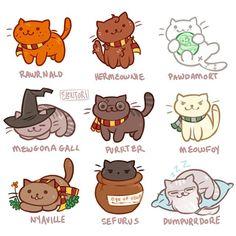 Harry purrter! These will be up on tumblr later :3  When in art block, draw cute things and make bad puns.  #harrypotter #nekoatsume #dracomalfoy #ronweasley #hermoniegranger #voldemort #minervamcgonagall #nevillelongbottom #severussnape #albusdumbledore #digitalart #cute #cat