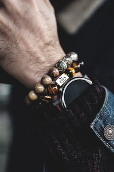 "vividessentials: "" Aurum Brothers provides men with custom luxury bracelets made…"