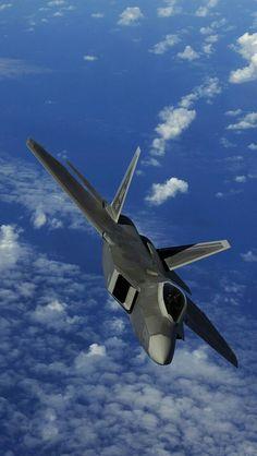 F Raptor fighter iPhone × Aviation Military Jets, Military Aircraft, Fighter Aircraft, Fighter Jets, Raptors Wallpaper, Jas 39 Gripen, Bomber Plane, F22 Raptor, Aircraft Carrier